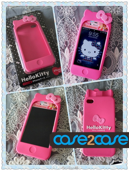 hello kitty iphone 4 case koolertron hello kitty cute wholesale cute    Iphone 3 Cases Hello Kitty